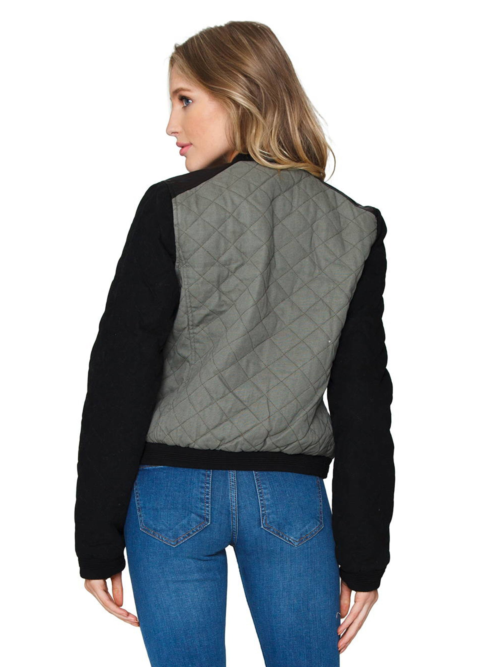Women outfit in a jacket rental from FashionPass called Quilted Bomber Jacket
