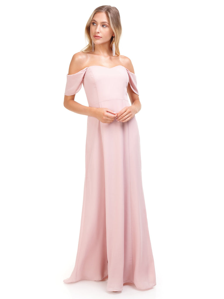 Women wearing a dress rental from WAYF called Rachel Strapless Gored Maxi Dress