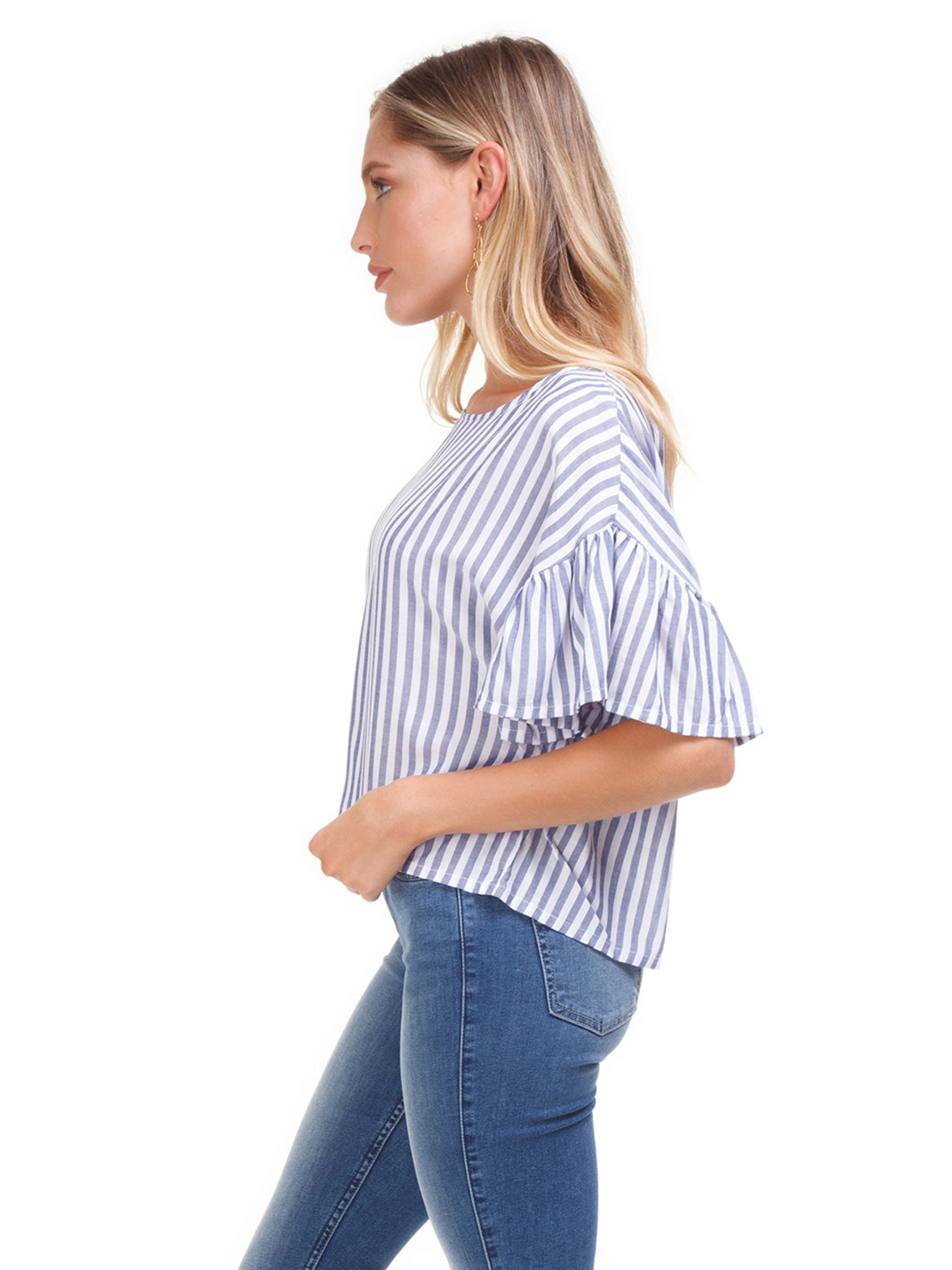 Women wearing a top rental from MINKPINK called Road Trip Stripe Top