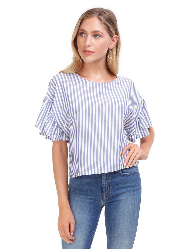 Women wearing a top rental from MINKPINK called Pip Spot Tie Front Bodice
