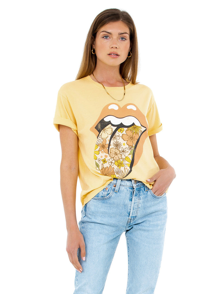 Women outfit in a tops rental from DAYDREAMER called Elton John Pop Color Boyfriend Tee