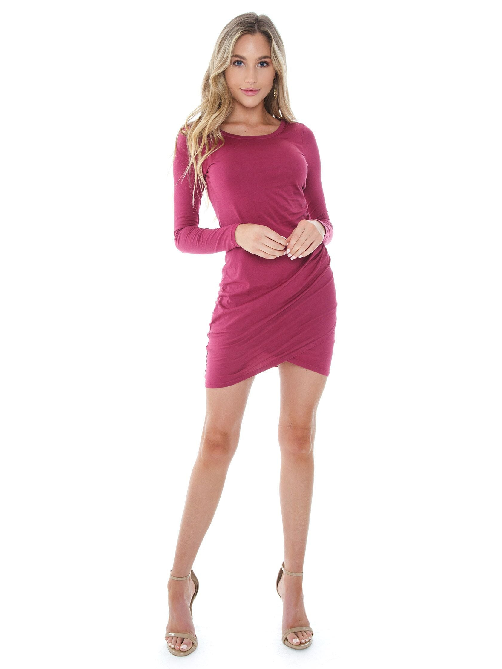 Girl outfit in a dress rental from Bobi called Ruched Side Dress
