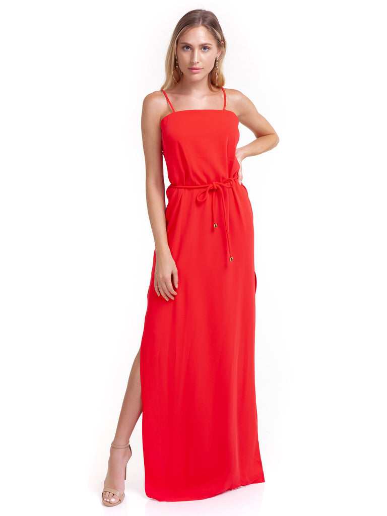 Girl outfit in a dress rental from Amanda Uprichard called Ellie Maxi Dress