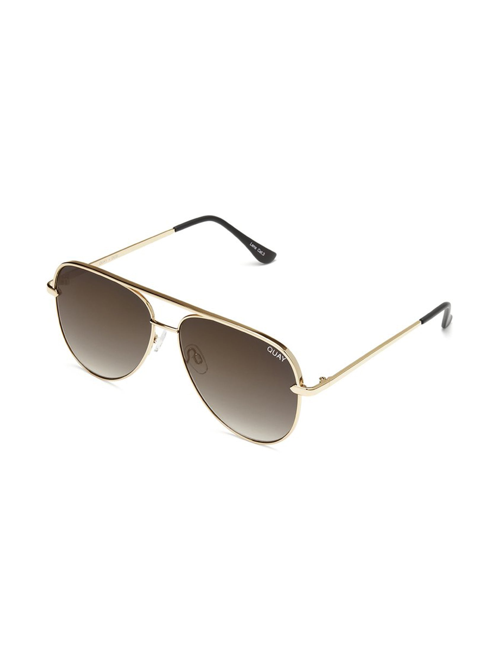 Woman wearing a sunglasses rental from Quay Australia called Sahara 60mm Aviator Sunglasses