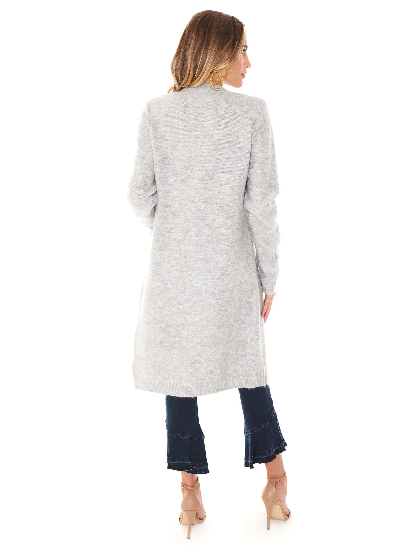 Women wearing a cardigan rental from MINKPINK called Saturdays Longline Cardi