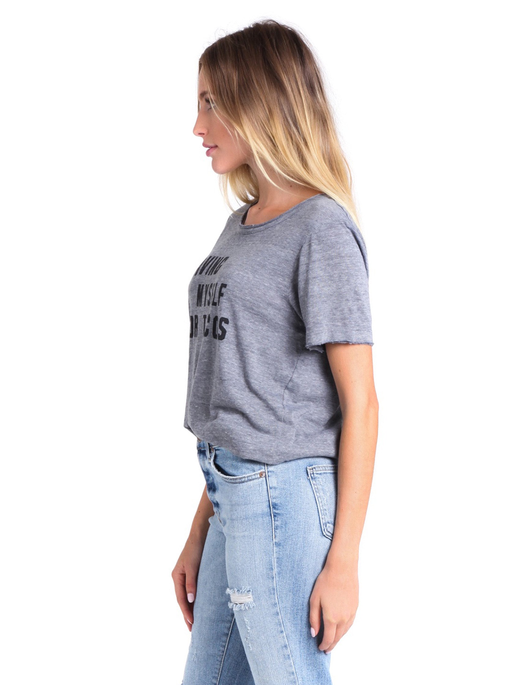 Women wearing a top rental from Chaser called Taco Me Tee