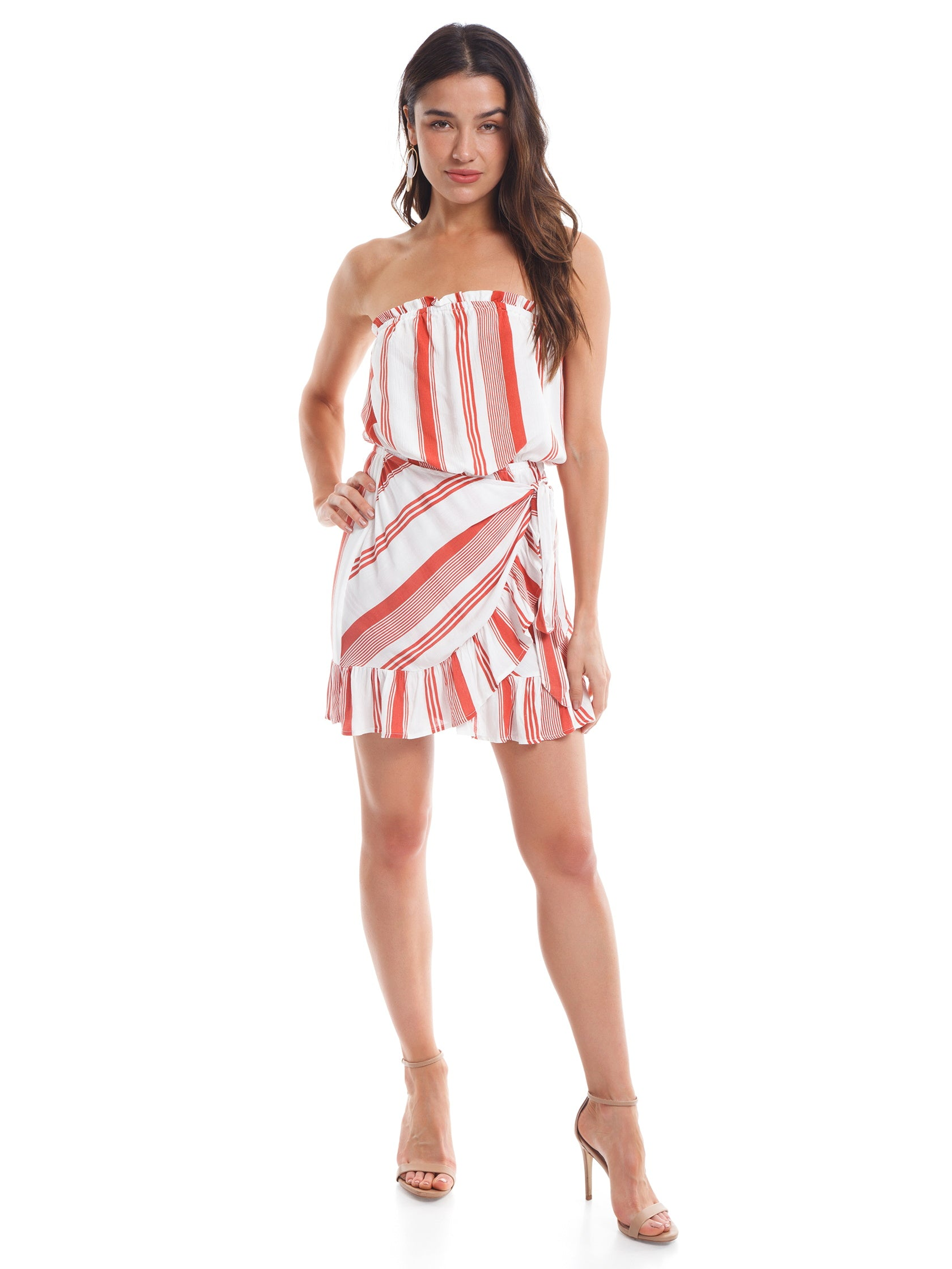 Girl outfit in a dress rental from Cotton Candy called Seeing Stripes Dress