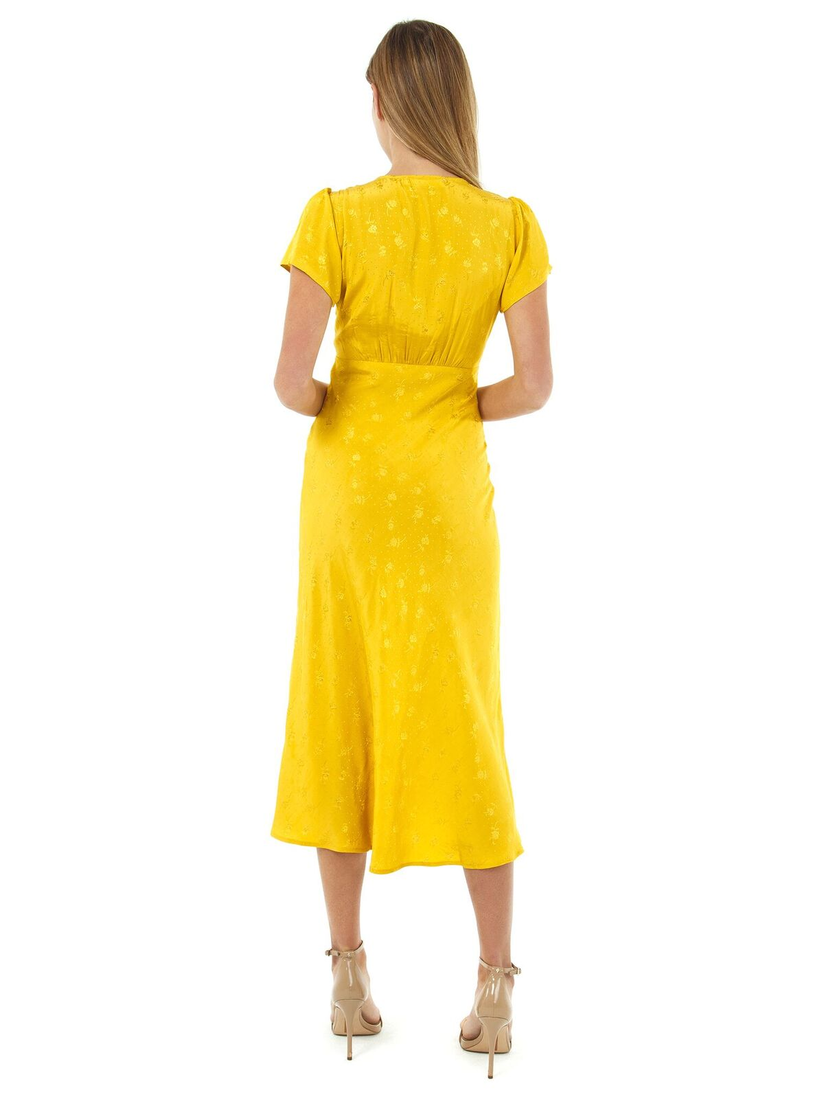Women wearing a dress rental from ASTR called Serendipity Front Tie Midi Dress