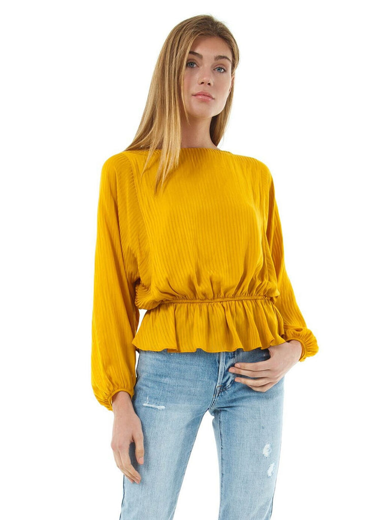 Women wearing a top rental from 1.STATE called Shadow Dolman Sleeve Blouse