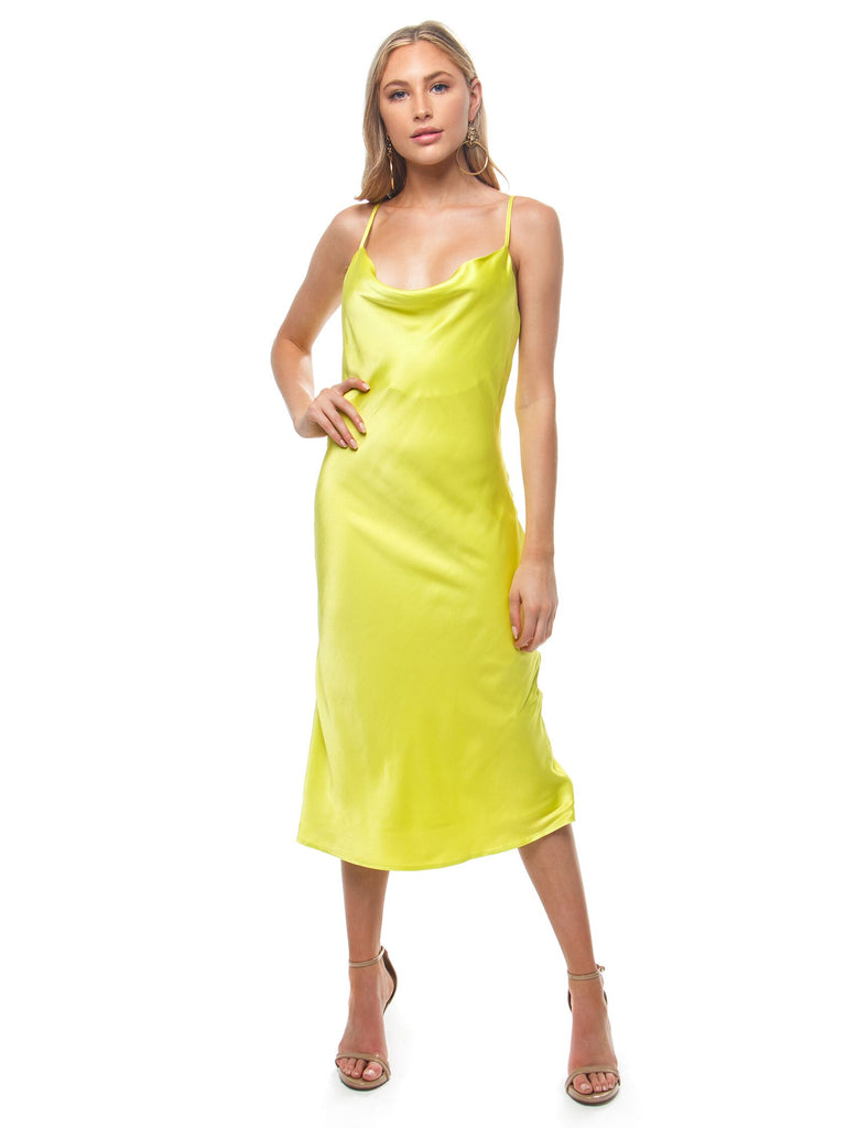 Women wearing a dress rental from BARDOT called Sharnie Slip Dress