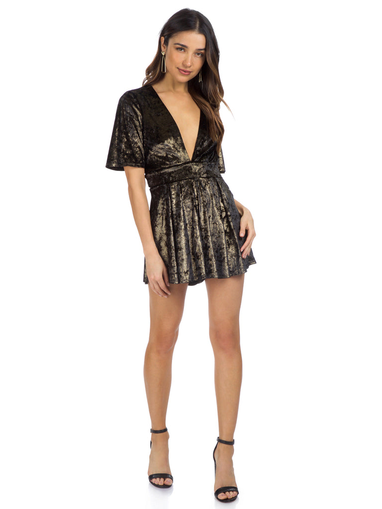 Women outfit in a romper rental from Show Me Your Mumu called Byron Dress