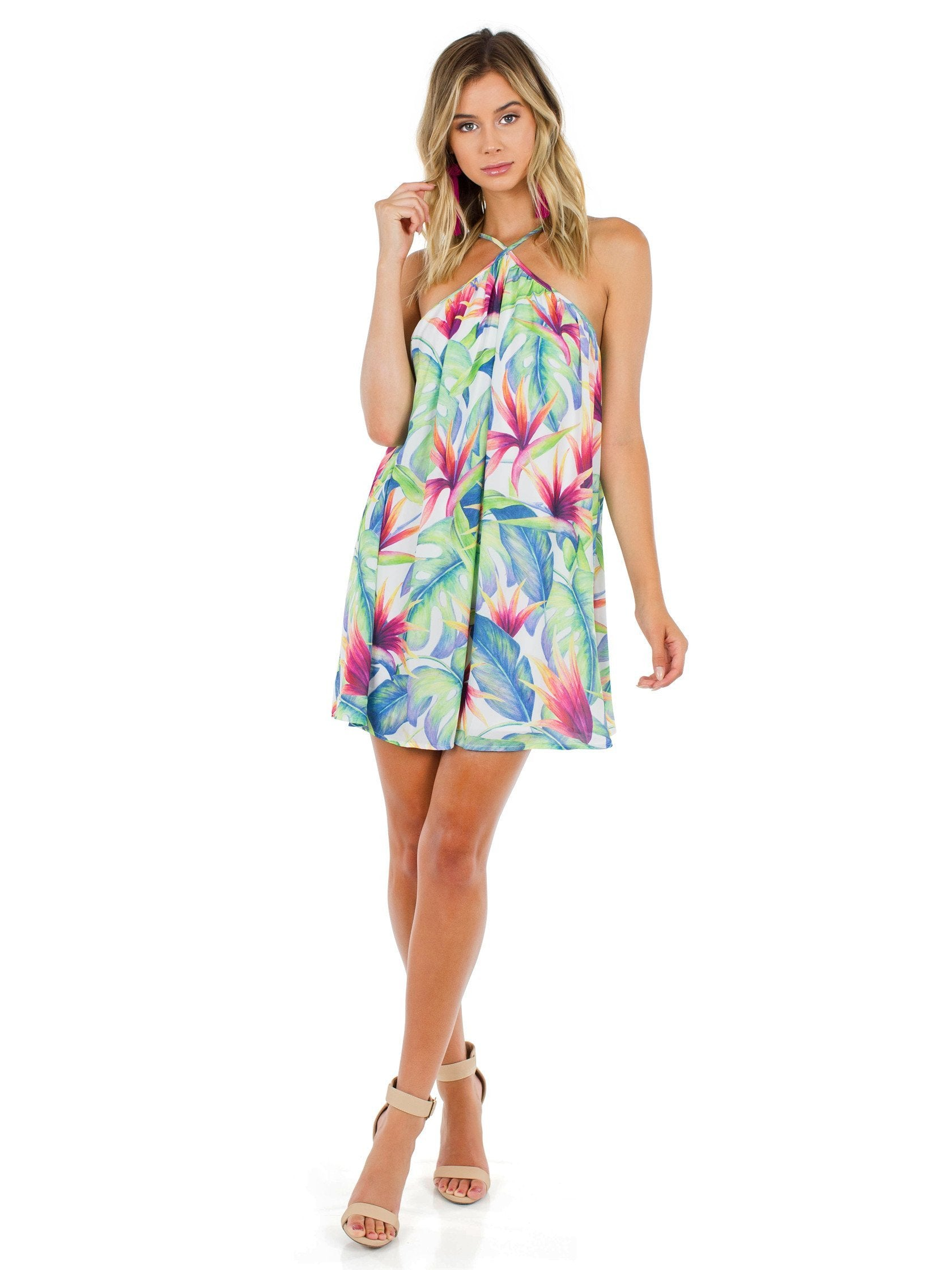 Girl outfit in a dress rental from Show Me Your Mumu called Lexington Mini Dress
