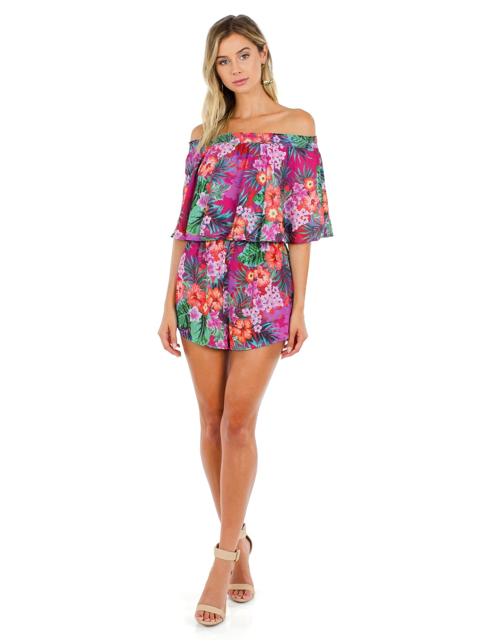 Girl outfit in a romper rental from Show Me Your Mumu called Rosarita Romper