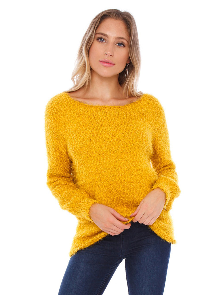 Women wearing a sweater rental from BB Dakota called Laurel Canyon Drawstring Top