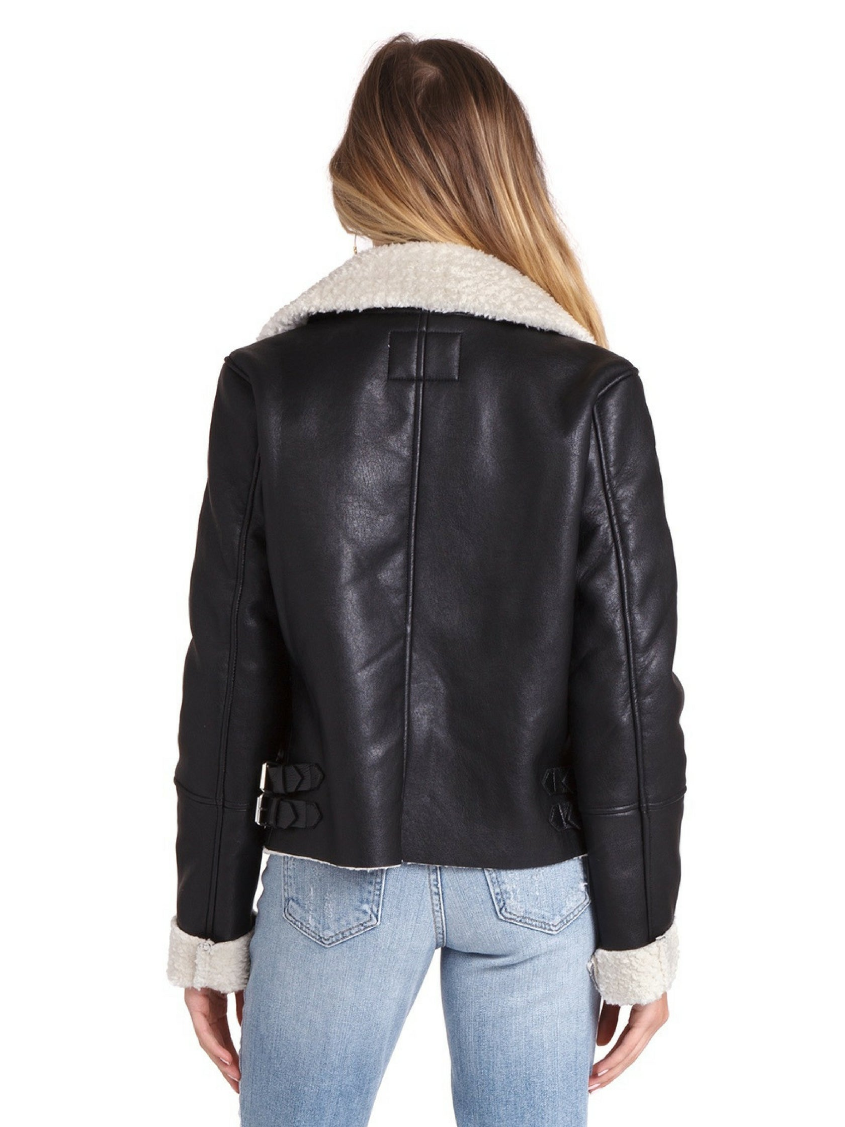 Women outfit in a jacket rental from BLANKNYC called Silent Night Jacket