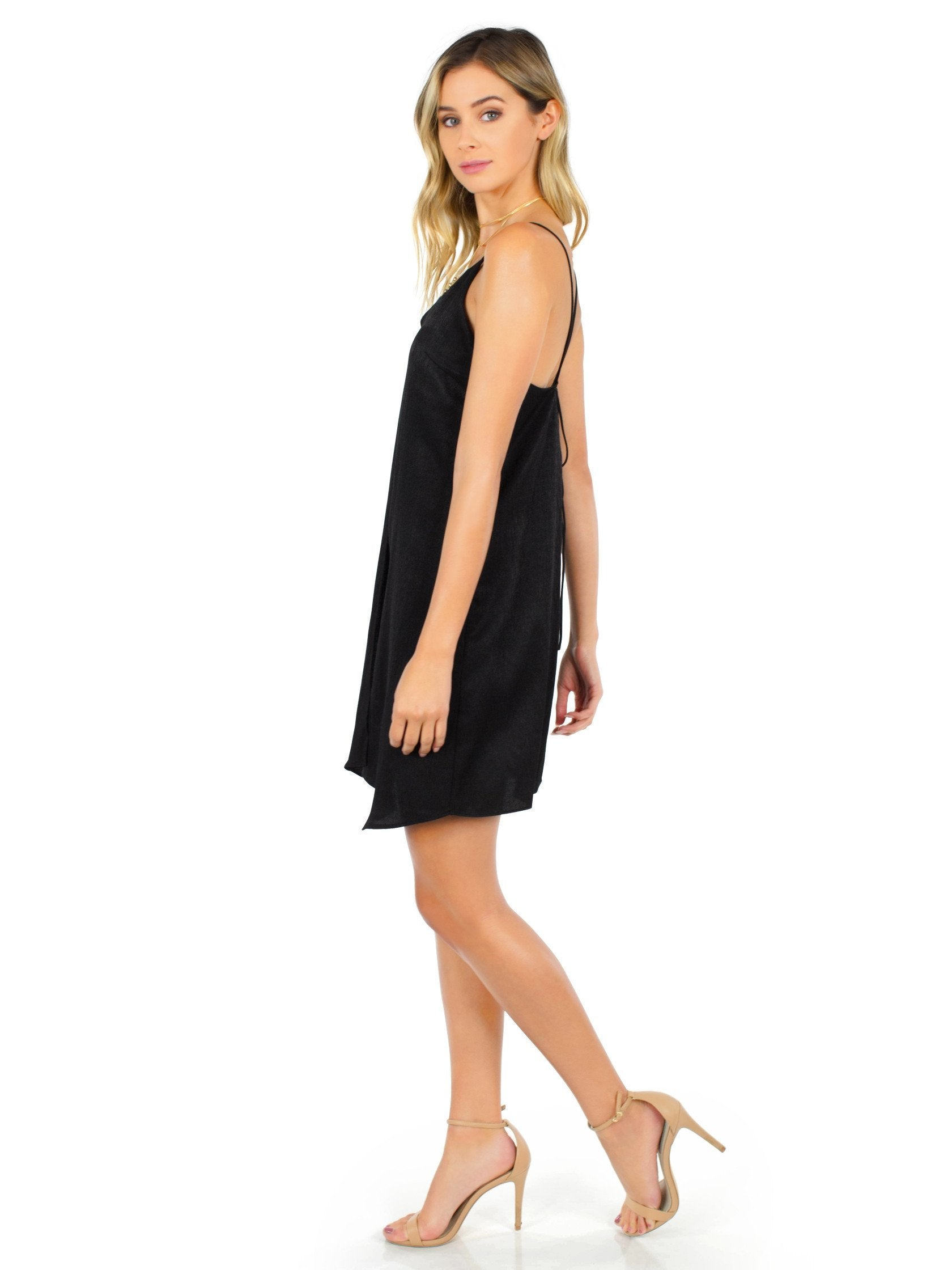 Woman wearing a dress rental from Six Crisp Days called Feeling Flirty Dress