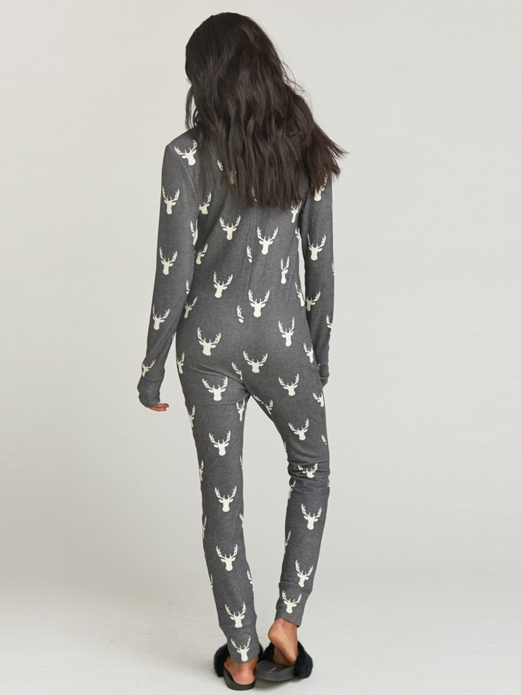 Women outfit in a pajamas rental from Show Me Your Mumu called Sleepy Time Onesie