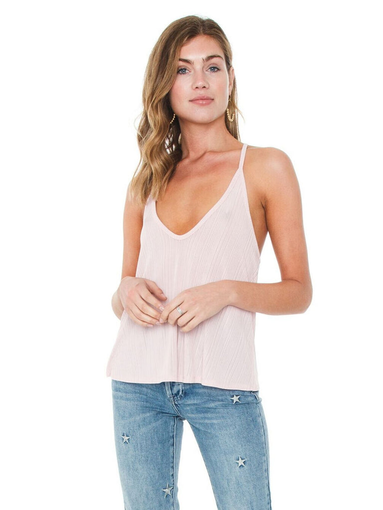 Woman wearing a cami rental from Free People called Shimmy Shimmy Tank