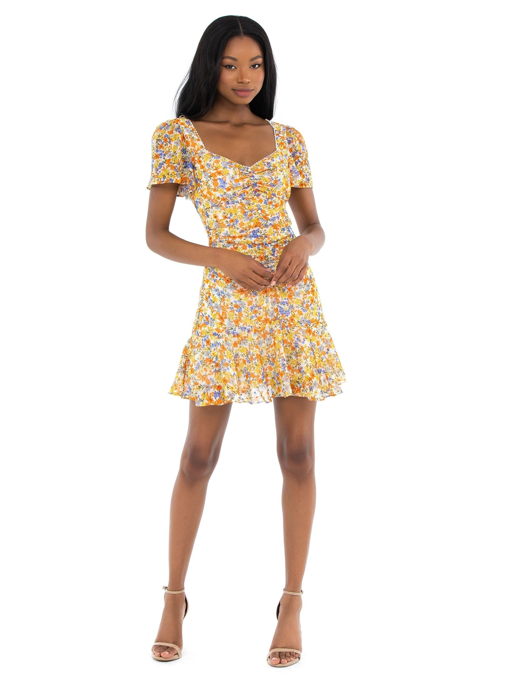 Girl outfit in a dress rental from ASTR called So Smitten Dress