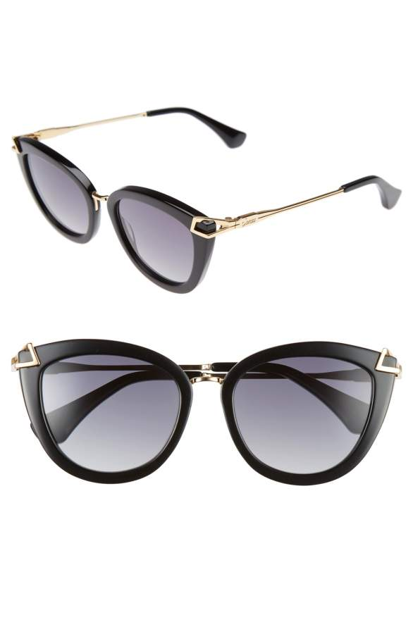 Girl wearing a sunglasses rental from Sonix called Melrose 51mm Gradient Cat Eye Sunglasses