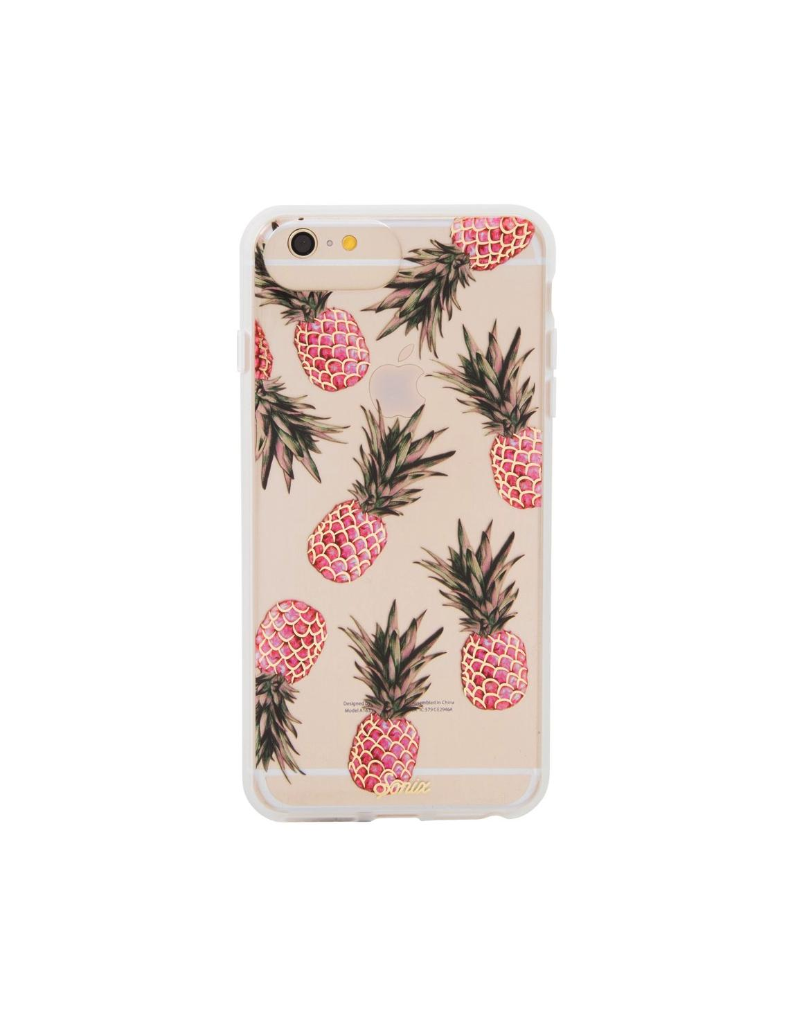 Women outfit in a phone case rental from Sonix called Piña Colada Phone Case