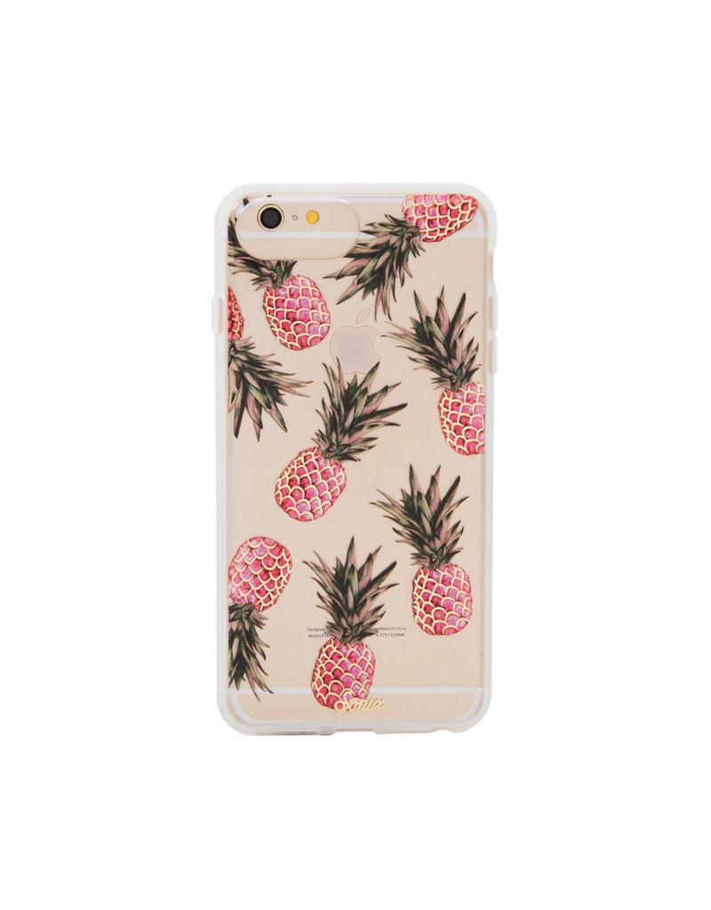 Women wearing a phone case rental from Sonix called Piña Colada Phone Case