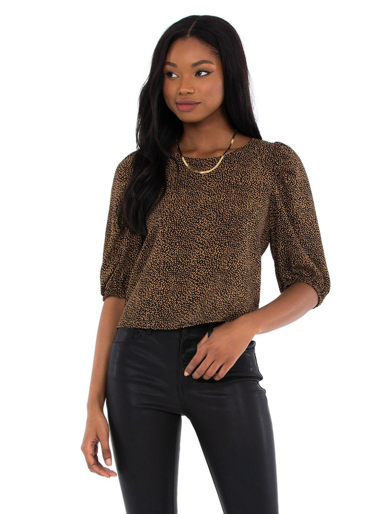 Girl outfit in a top rental from BB Dakota called Faux Leather Jogger
