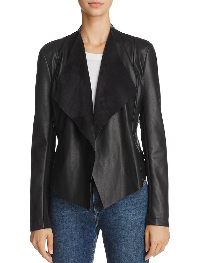 Women outfit in a jacket rental from French Connection called Neema Peplum Top