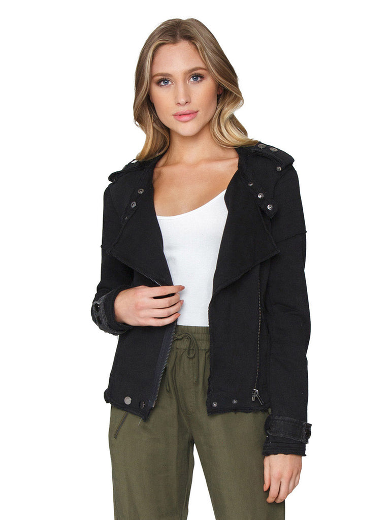 Women wearing a jacket rental from FashionPass called Rose Crop Top