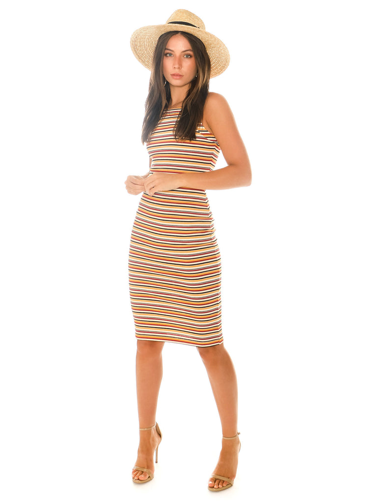 Women outfit in a dress rental from 1.STATE called Adella Slip Dress