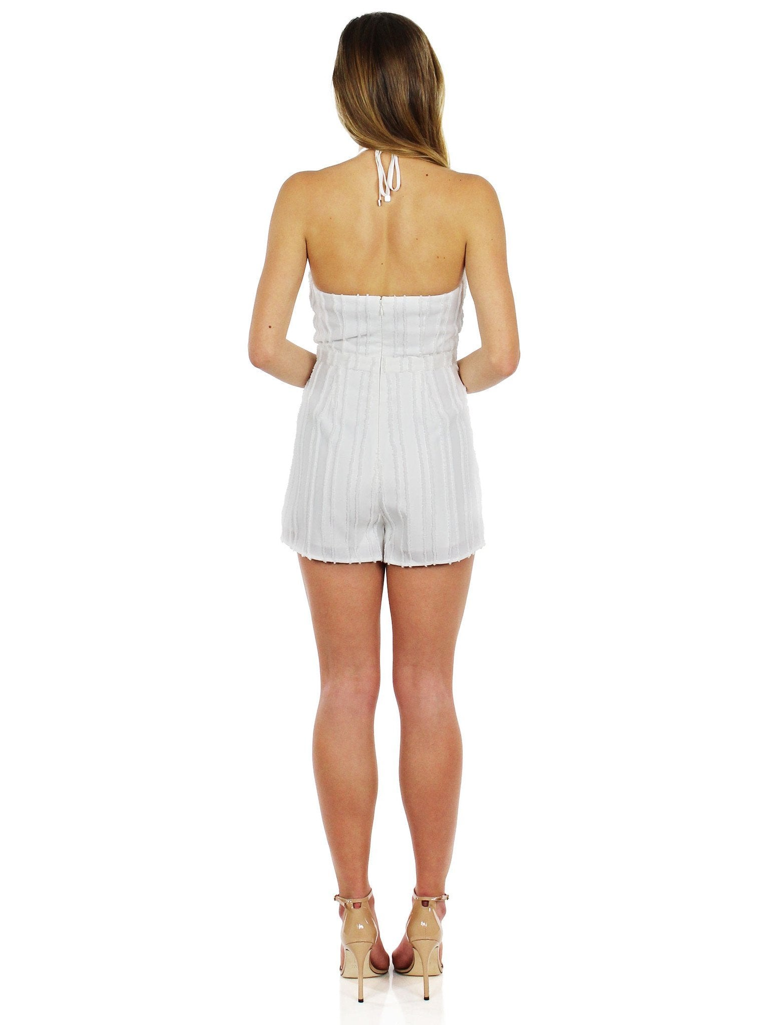 Women wearing a romper rental from STYLESTALKER called Prague Romper
