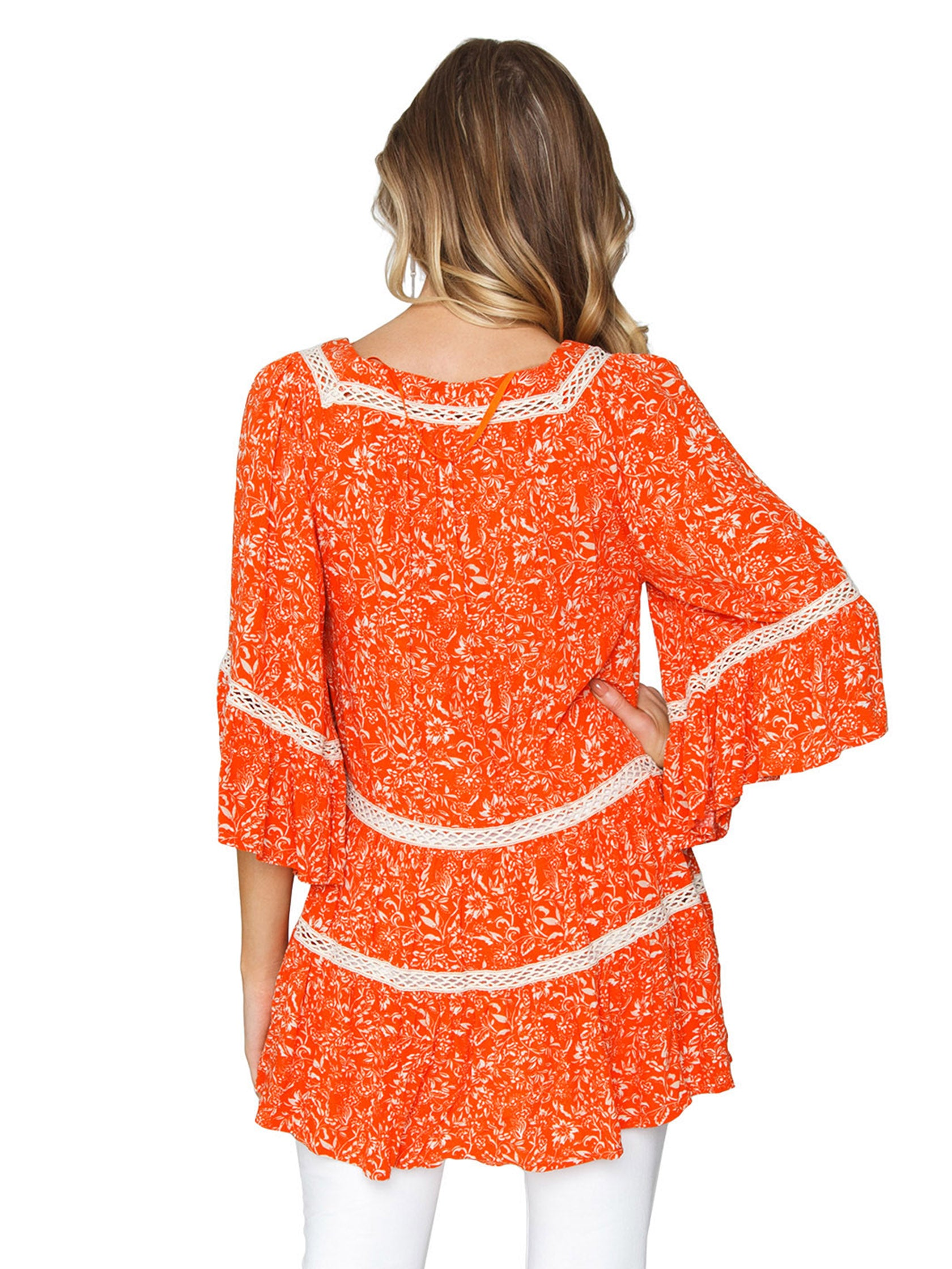 Women outfit in a top rental from Free People called Talk About It Tunic