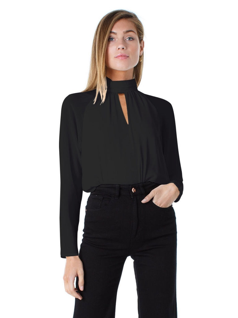 Women wearing a top rental from FashionPass called Tarly Turtleneck Bodysuit