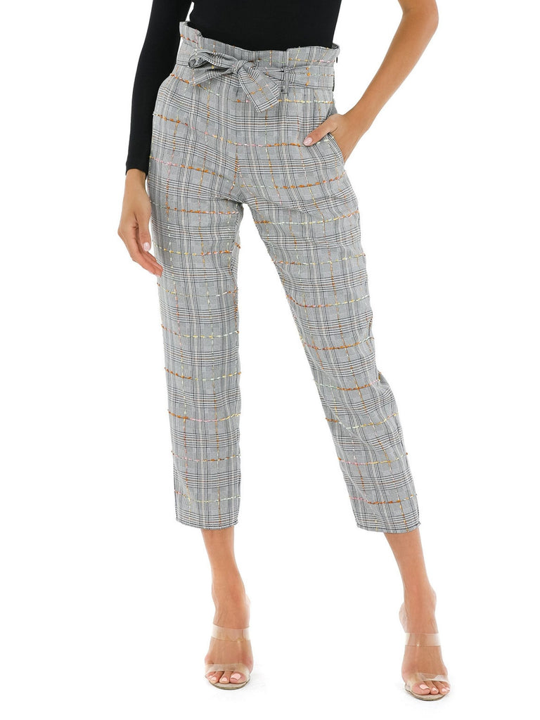 Women wearing a pants rental from Amanda Uprichard called Tessi Pants