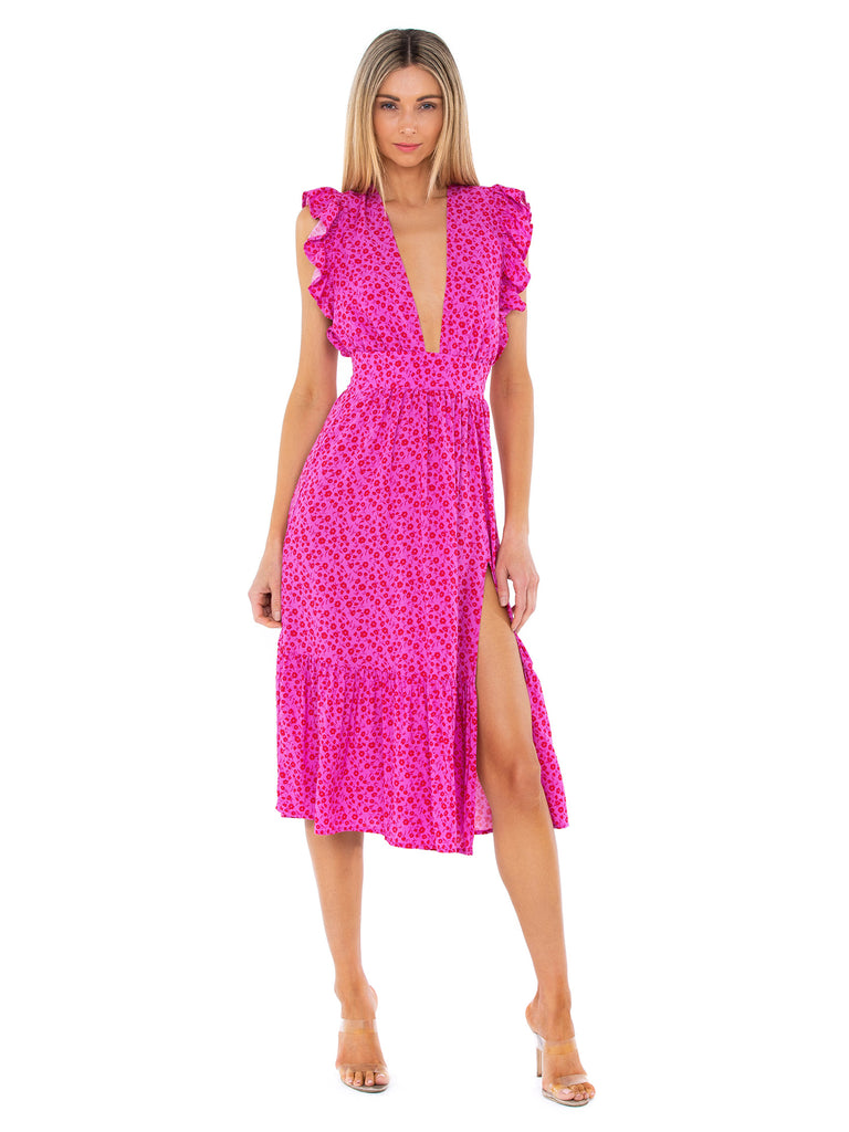Women outfit in a dress rental from STILLWATER called Monika Hook Front Mini Dress