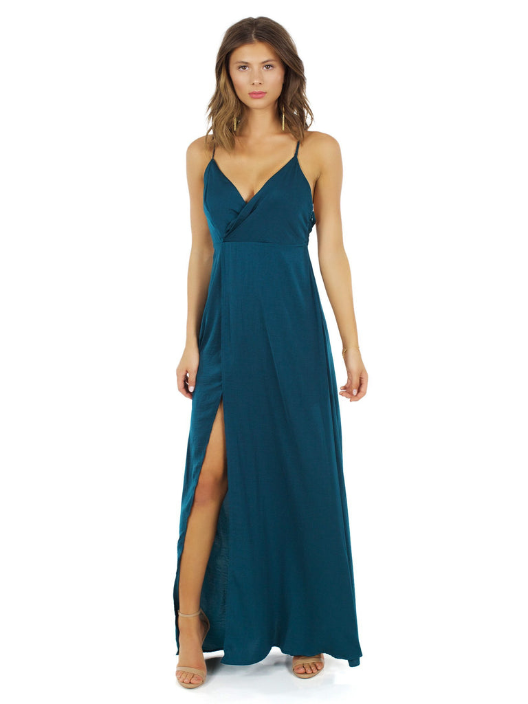 Girl outfit in a dress rental from The Jetset Diaries called Gwyneth Ruffle Maxi Dress
