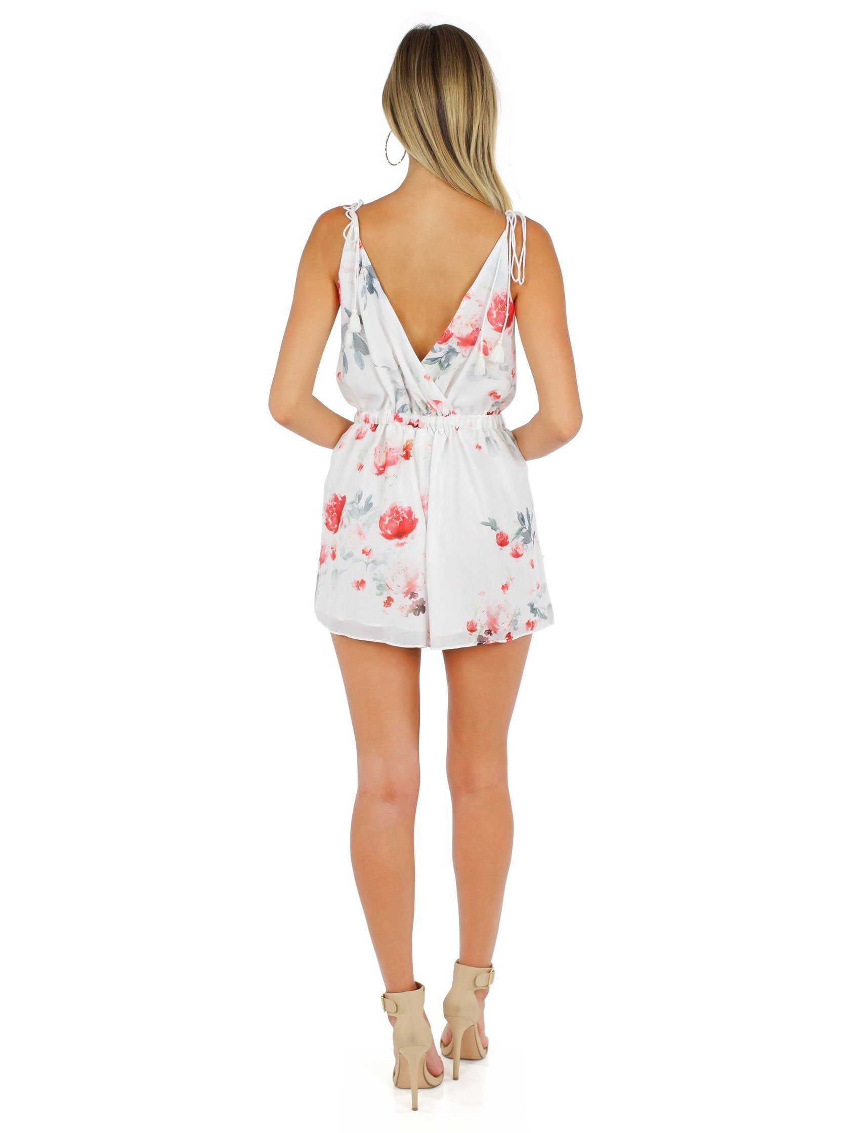 Women wearing a romper rental from The Jetset Diaries called Isabella Romper