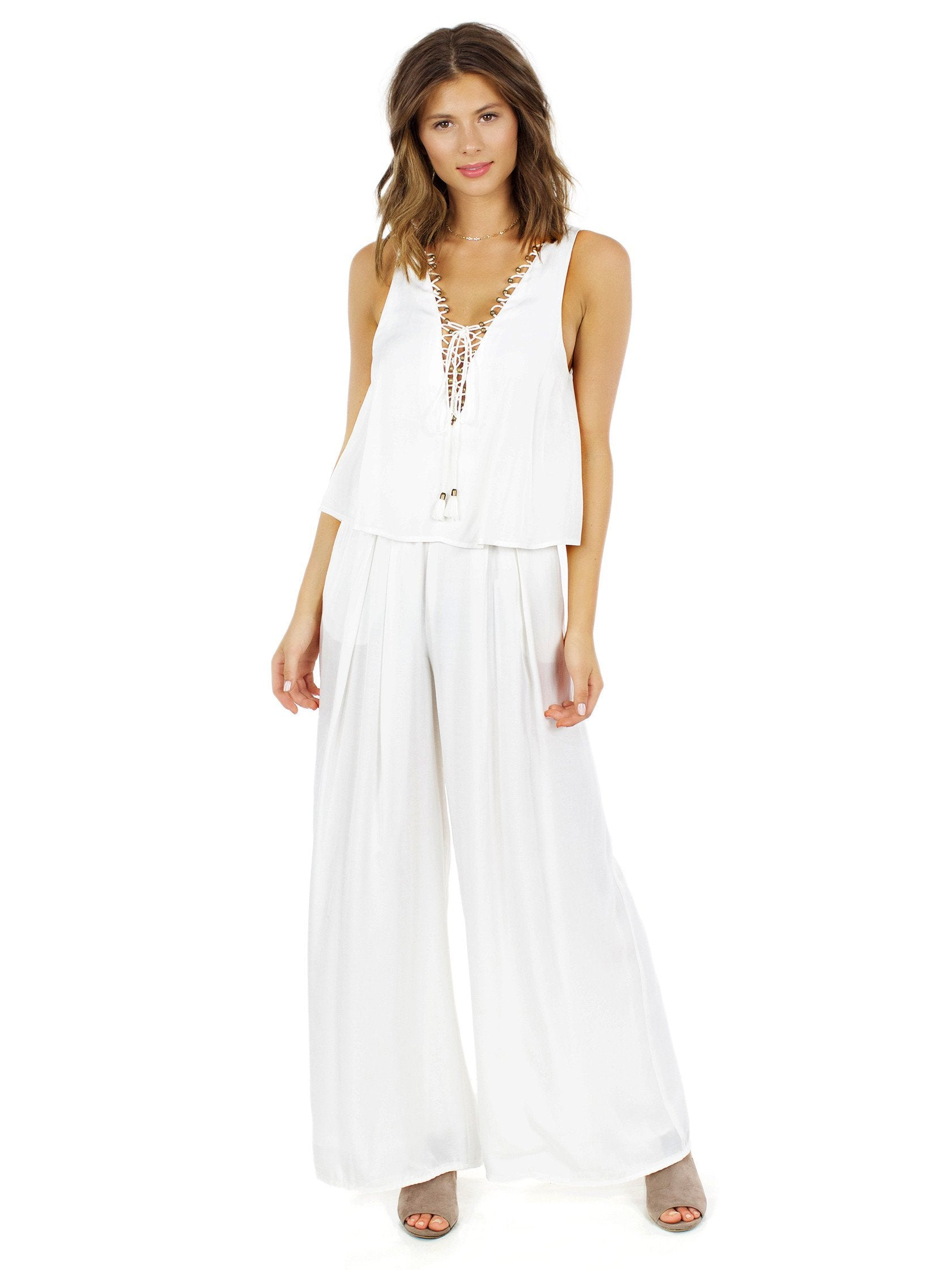 Girl outfit in a jumpsuit rental from The Jetset Diaries called Souks Jumpsuit