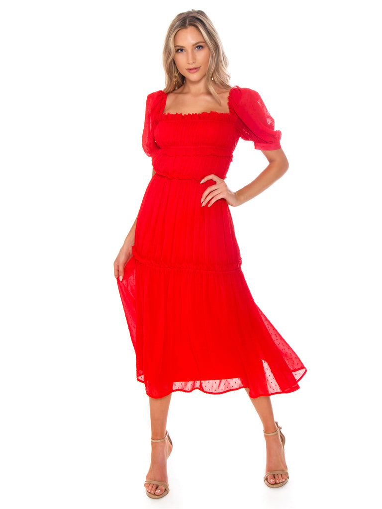 Women wearing a dress rental from Lani The Label called The Poppy Dress