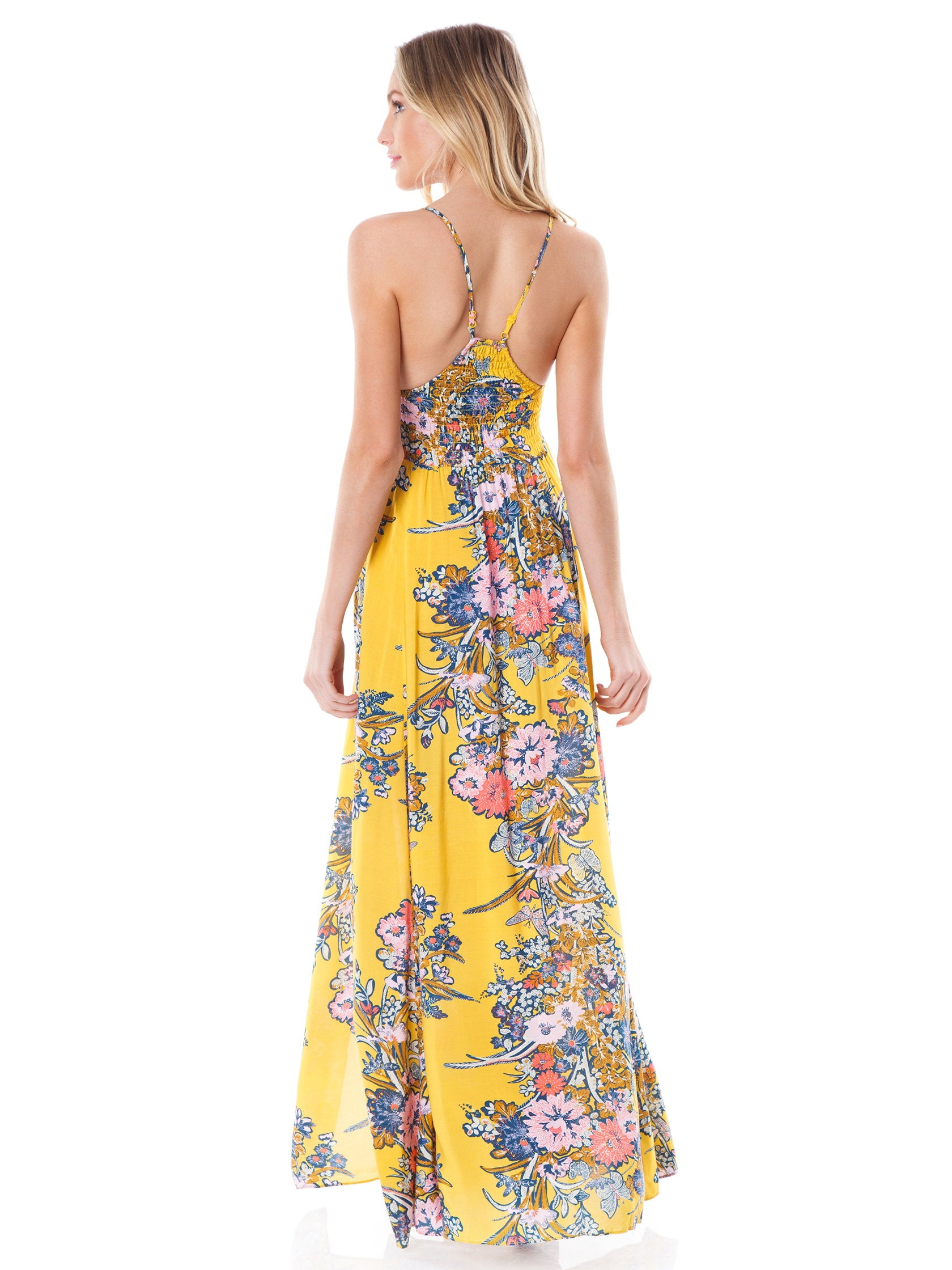 774f7837651 Women wearing a dress rental from Free People called Through The Vine  Printed Maxi Dress
