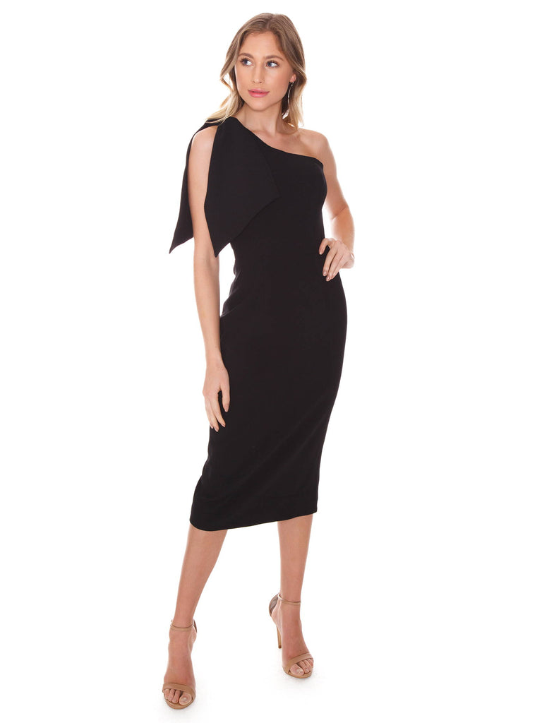 Women outfit in a dress rental from Dress the Population called Monica Maxi Dress