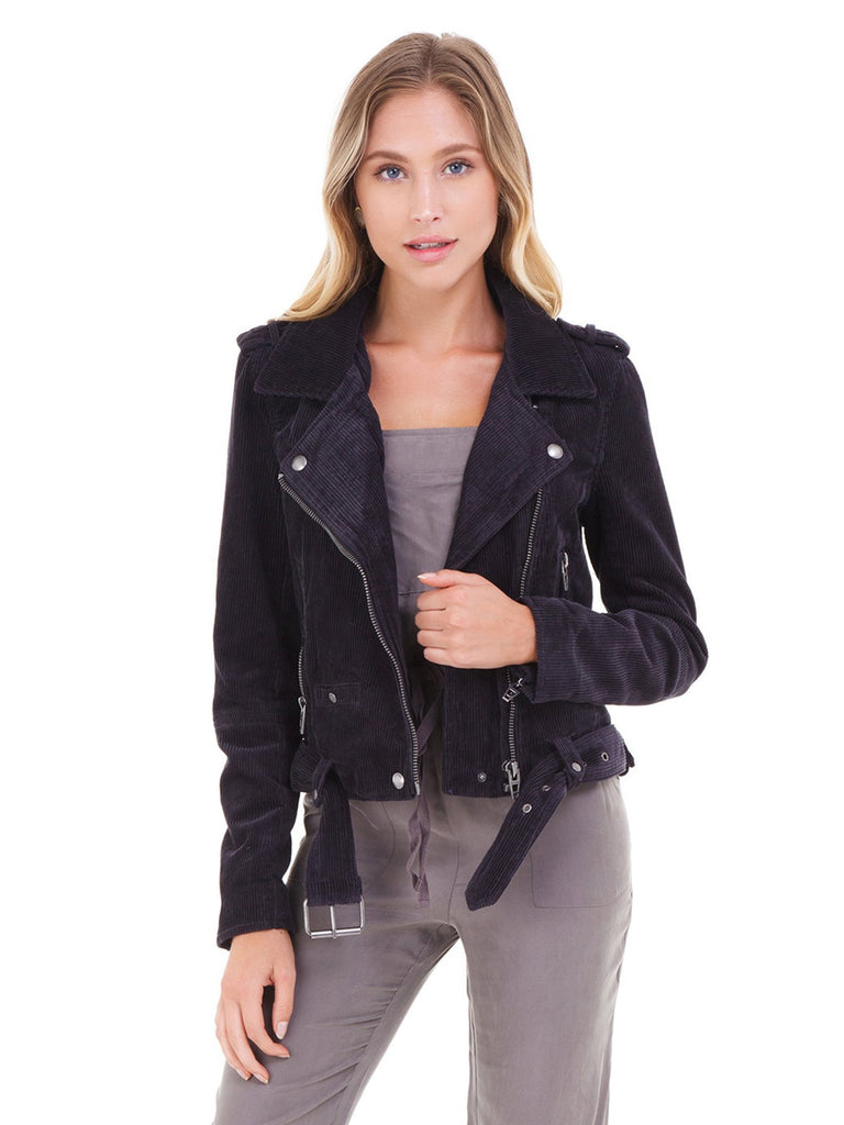 Girl outfit in a jacket rental from BLANKNYC called Faux Leather Jogger