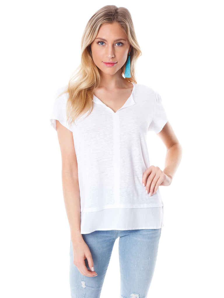 Women wearing a top rental from SANCTUARY called V-neck Ruffle Sleeve Top