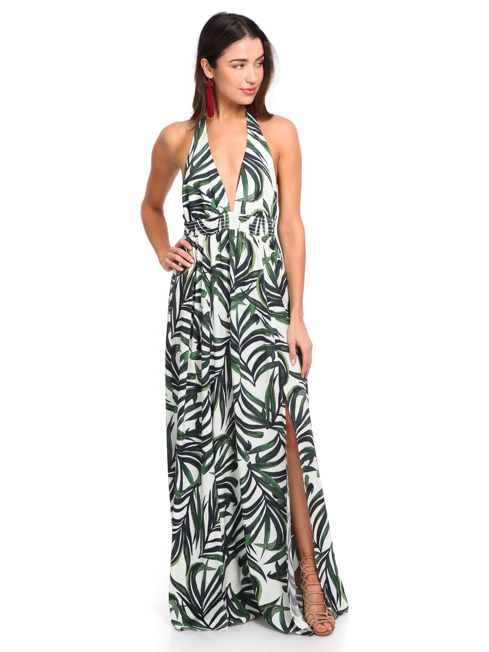 Girl outfit in a dress rental from Show Me Your Mumu called Vacation Maxi