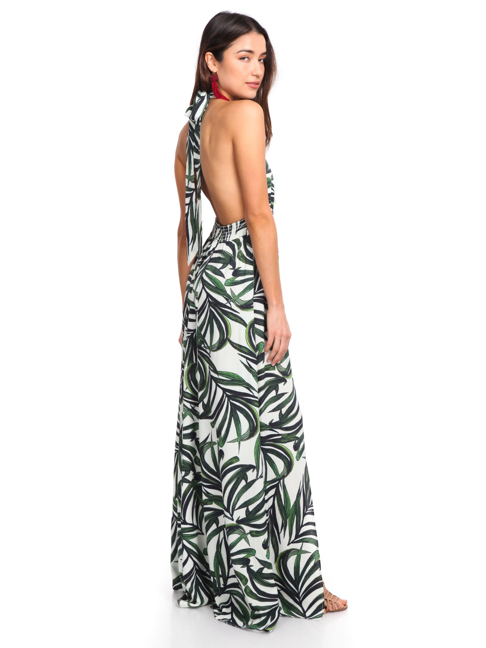 Woman wearing a dress rental from Show Me Your Mumu called Vacation Maxi