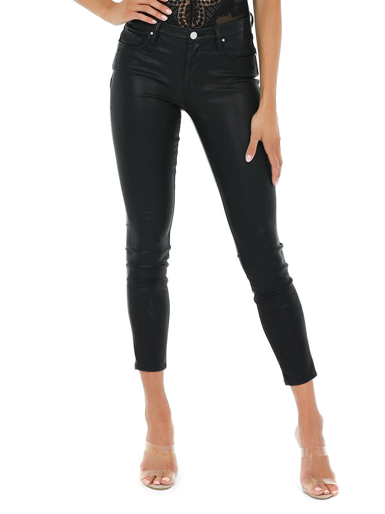 Women wearing a pants rental from BLANKNYC called Vegan Leather Pant