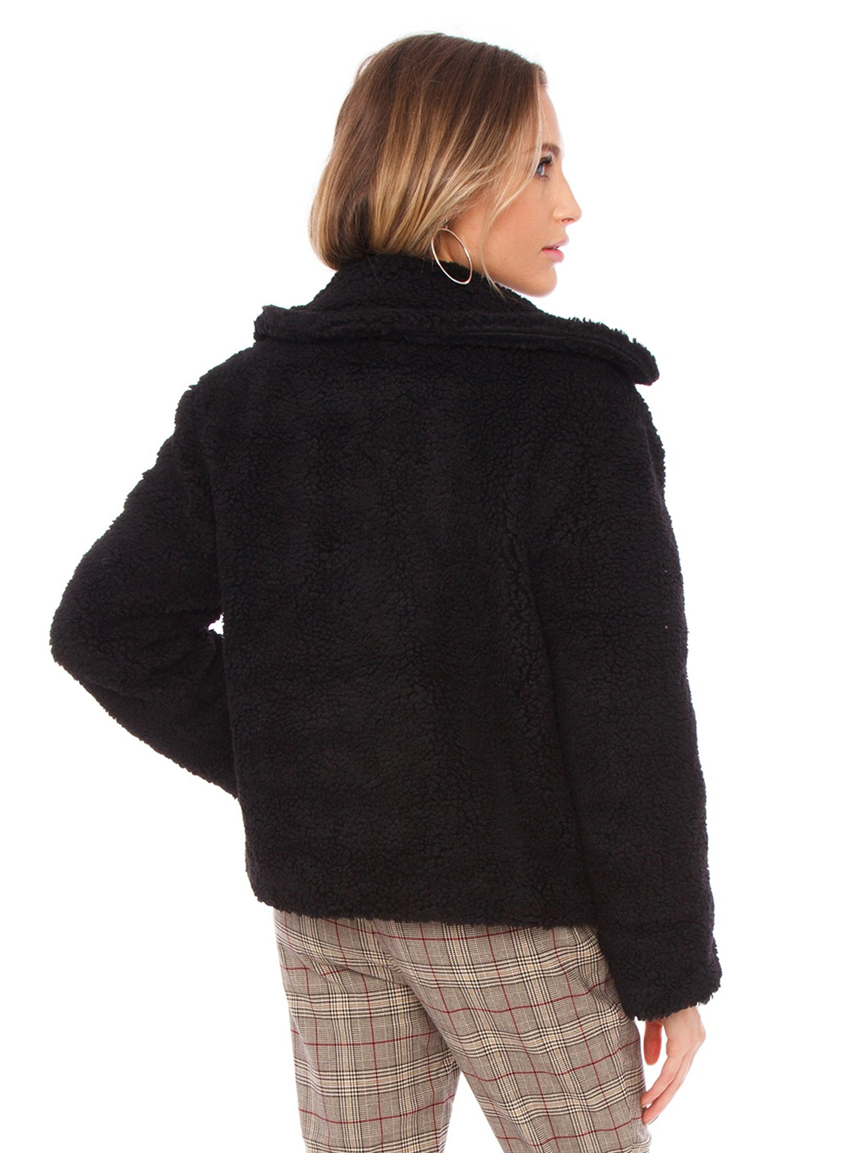 Women wearing a jacket rental from J.O.A. called Teddy Faux Fur Jacket