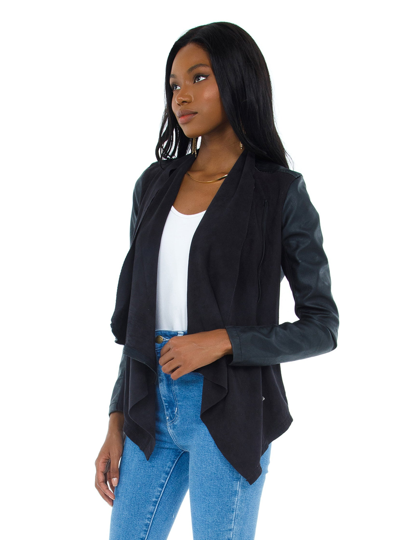 Women wearing a jacket rental from BLANKNYC called Whatever It Takes Jacket