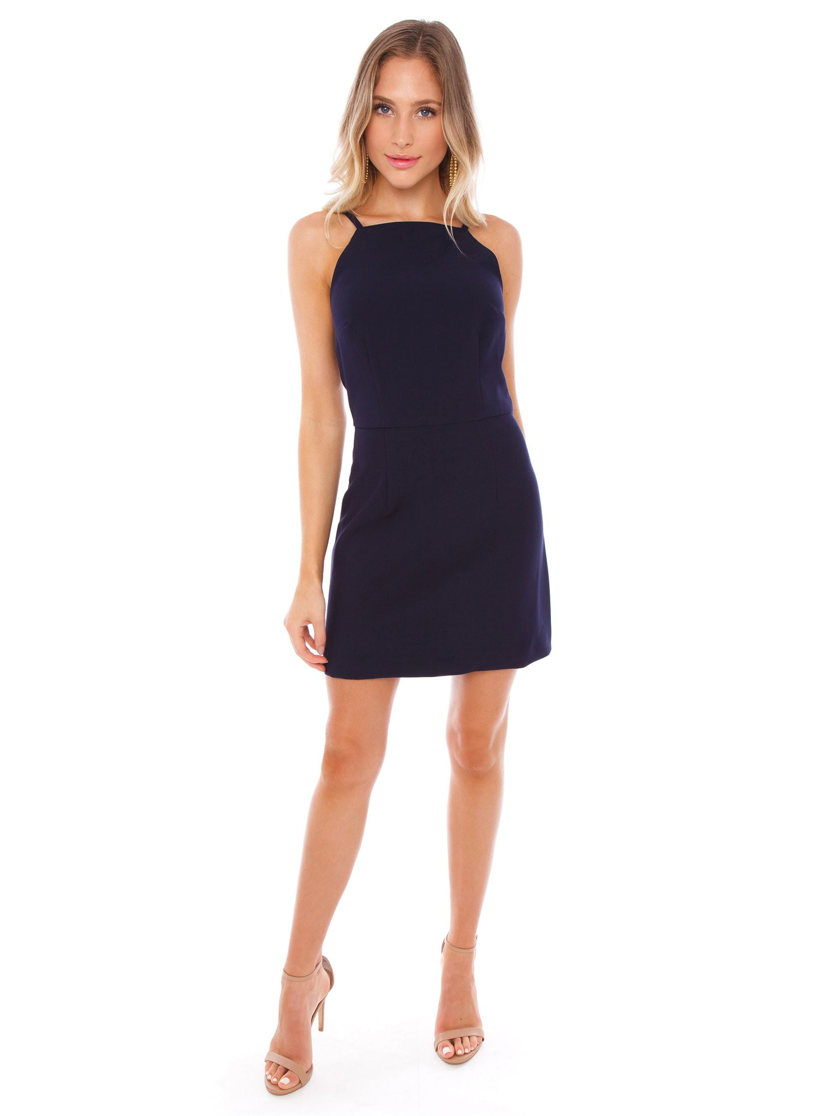 a314d93f5f1 Girl outfit in a dress rental from French Connection called Whisper Light  Square Neck Sheath Dress