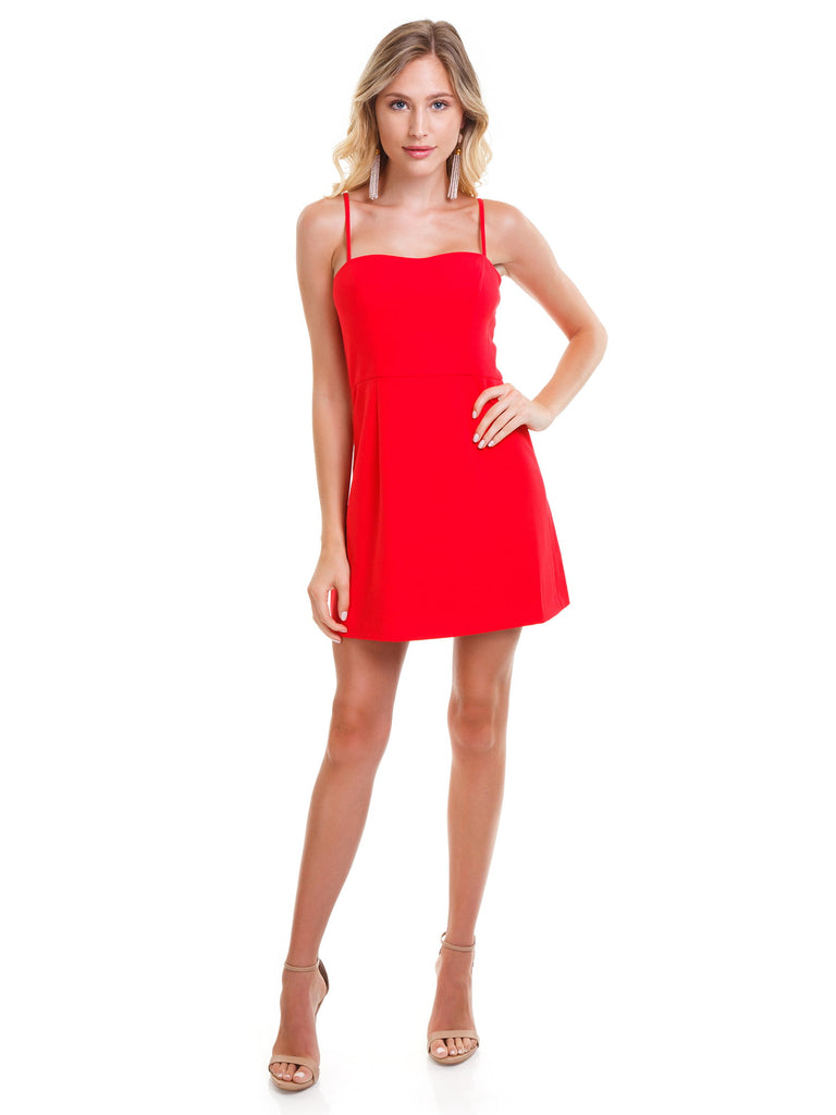 Women wearing a dress rental from French Connection called Bachelorette Mini Dress